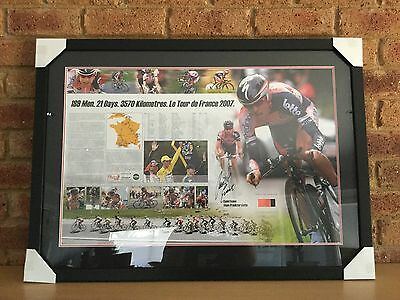 Cycling - Cadel Evans 'A Piece of the Action' Signed and Framed Print and Jersey