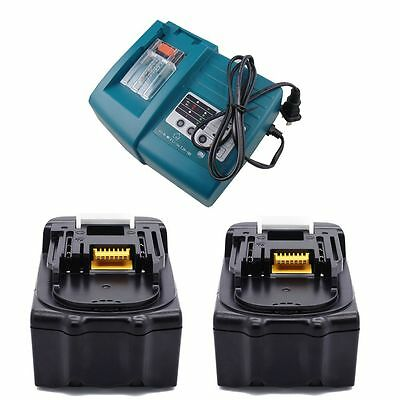 Replacement 2X Makita 18V Cordless Bl1830 3Amp Battery And Dc18Rc Charger Lg Au
