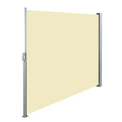 Retractable Side Awning Shade 180cm Outdoor Sun Weather Protection Beige