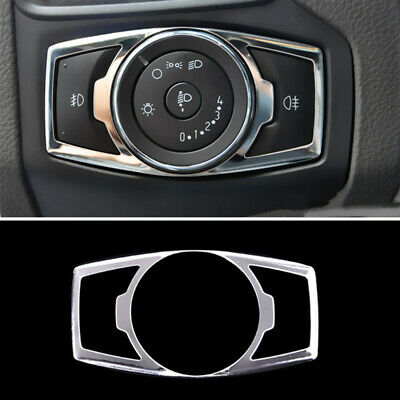 Fit For Ford Focus 12- Chrome Fog Head Light Lamp Switch Button Cover Trim Bezel