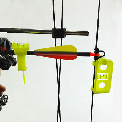 Arrow Level & Snap on String Level Combo for Compound bow Nock Mounting Position