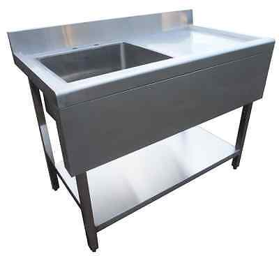 Commercial Catering Kitchen Stainless Steel Sink 1000mm Right Hand Drainer