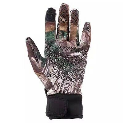 Camo Winter Windproof Fullfinger Gloves Cycling Fishing Warm Mittens Touchscreen