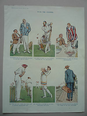 """Cricket Show Off. """" With The Colours."""" 1938 Rare."""