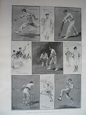 """. """" The Surrey V Oxford Cricket Match At The Oval. """" 1901. Very Rare."""