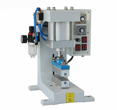 Pneumatic Hot Foil Stamping Machine Leather Wood LOGO Stamping Embossing 220V