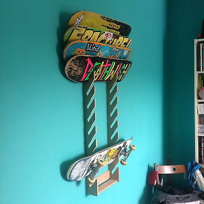 Skateboard Rack. Holds up to 12 boards. Wall Mounted.