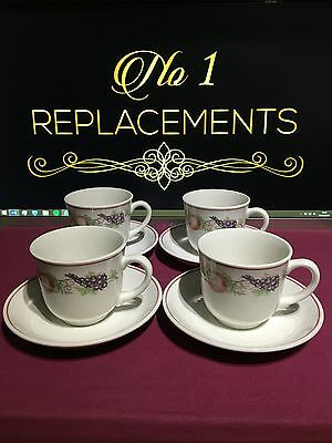 4 x Boots Orchard Tea Cups and Saucers 2 Sets Available
