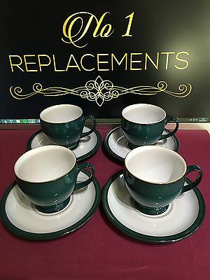 4 x DENBY GREENWICH TEA CUPS AND SAUCERS SEVERAL SETS AVAILABLE