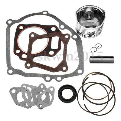 Rebuild Kit Set w/ Piston Ring + Gasket For Honda GX160 GX200 5.5 6.5HP Engine
