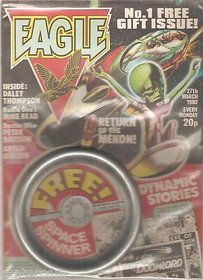 """EAGLE Comic - Issue No 1 - Date 27/03/1982 - Inc """"SPACE SPINNER"""" Free Gift"""