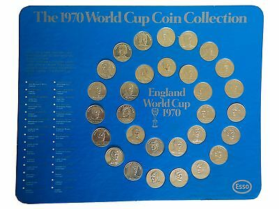1970 World Cup Coin Collection. Esso, England World Cup Squad. 100% Complete.