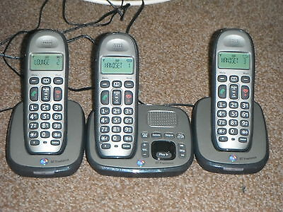 Bt Freelance Xd8500 Cordless Phones With Answering Machine (Triple)