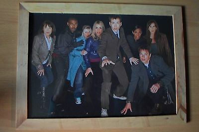 Doctor Who 10th doctor and companions framed print