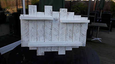 Rustic floating shelf  Reclaimed tea light candle holder shabby White, chic etc