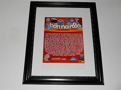 "Large Framed Bonnaroo 2013 Poster All Bands Listed McCartney, Wilco 24"" by 20"""