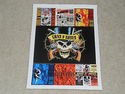 "Guns n' Roses Album Covers Mini-Poster, Banned Cover, Use Your Illusion,8"" x 11"""