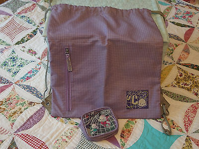 RARE Vintage from 2000's Pochacco Backpack/Sack & Coin Purse by Sanrio, USED