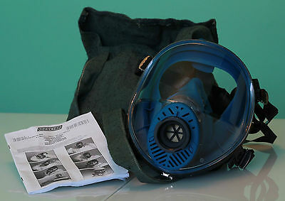 SPASCIANI Full Face gas Mask Respirator Brand New TR-2002 CL2 Heavy duty Filter
