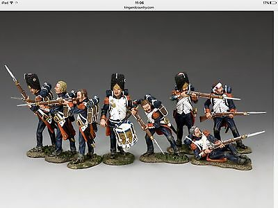 NA 358-365 French Old Guard Set Of 8 Napoleonic Toy Soldiers Mint In Boxes