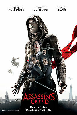 "Assassin's Creed :  Movie 27""x40"" HI-RES POSTER VINYL BANNER @"