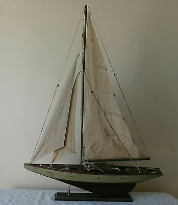 Large Wooden  Model Display Yacht