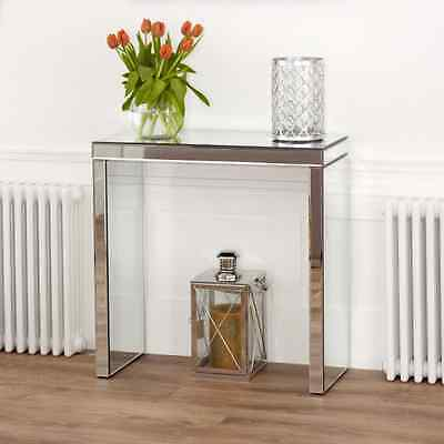 Venetian Compact Mirrored Glass Console Hall Table - Modern Furniture VEN38