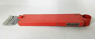 Vtg W. D. Allen Wall Mount Fire Hose Pin Rack-Very Good