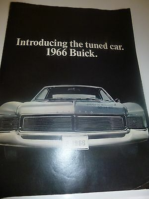 1966 Introducing the Tuned Car. 1966 Buick. Sales Brochure**Good Condition**