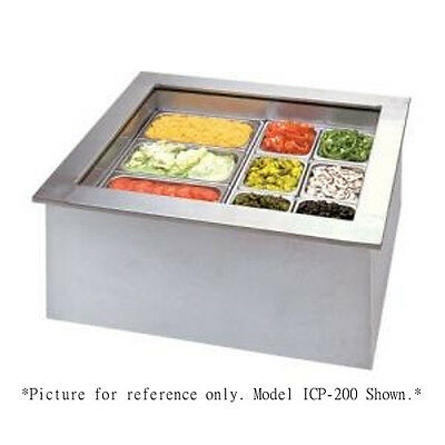 APW Wyott ICP-400 Four Pan Drop In Ice Cooled Cold Food Well