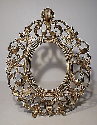 French Antique Gilt Metal photo frame