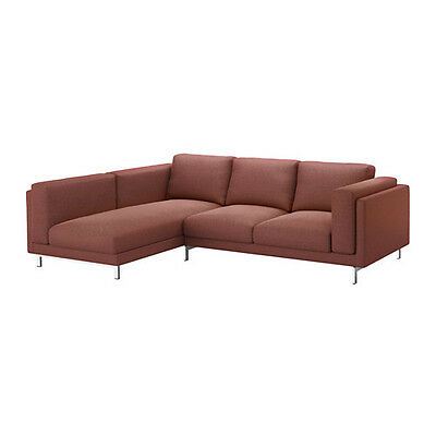 New Ikea Nockeby COVER SET for Two-seat sofa with chaise LEFT in Tallmyra rust
