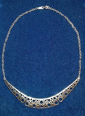 "Liisa Vitali Finland Beautiful Sterling Silver Necklace from ""Pitsi"" Collection"