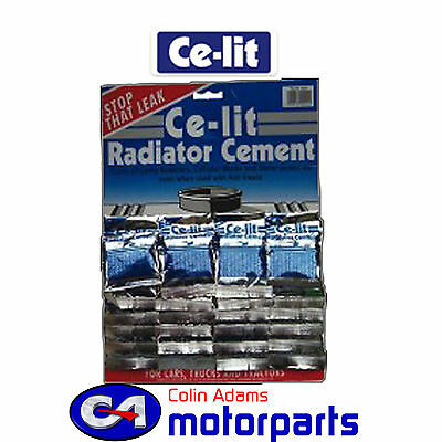Ce-Lit Radiator Stop Leak Cement Sachets - Display Card of 24 - 0244
