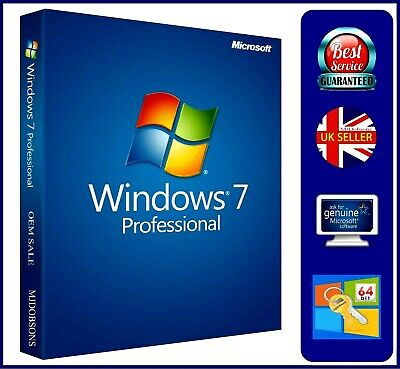 Windows 7 Professional 32 + 64-bit USB +SP1 Activation Product Key USB