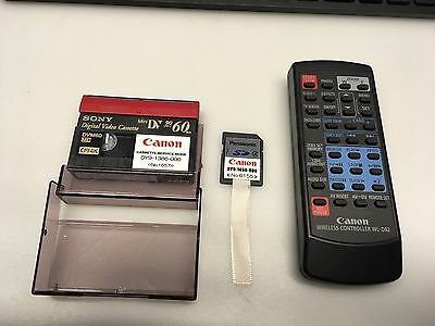CANON WL-D82 VIDEO CAMCORDER REMOTE CONTROL FULLY TESTED + Service DV and SD