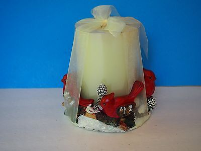 New Decorative Cardinal Christmas Candle Holder with Candle