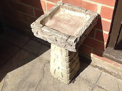 Stone Concrete Brick Bird Bath Feeder