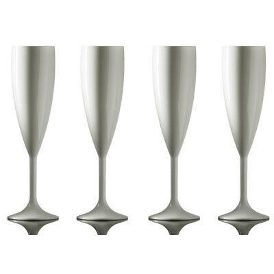 Elite Premium Champagne Flutes 200ml White - Pack of 4