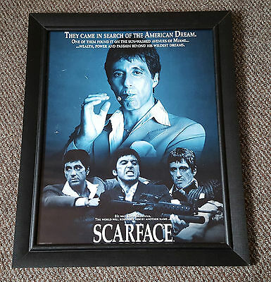 Al Pacino SCARFACE Framed Movie Poster Picture Tony Montana Black Frame No Glass