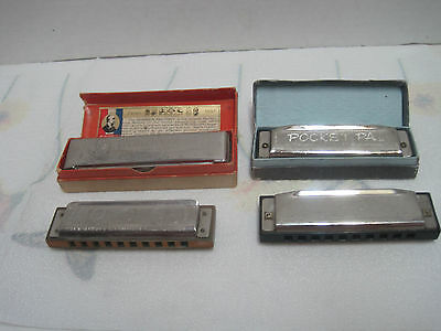 4 Hohner harmonicas. 1 Wold renowned 1 pre 1 post war German 2 from China