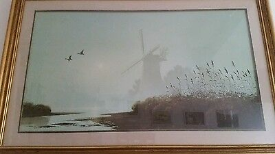 """""""Mill in the Mist"""" By Gerald Coulson Framed Print"""