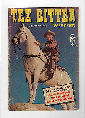 Tex Ritter Western #7 (Oct 1951, Fawcett) - Good-