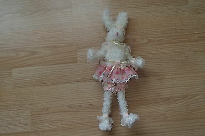Easter Bunny Rabbit Wings Fairy Plush Bendable Poseable Decoration