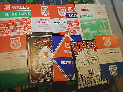 Various Wales home programmes 1961 1967 1974 1975 1976 1977 1979 1980 1985