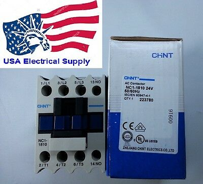 Schneider  LC1D18 Replacemen for Chint Contactor NC1-1810 Coil 24VAC