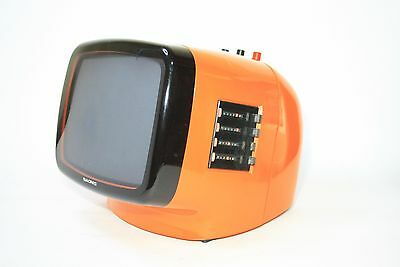 """Iconic Portable Television Naonis Ln 9"""" Year '70 Vintage Space Age Made In Italy"""
