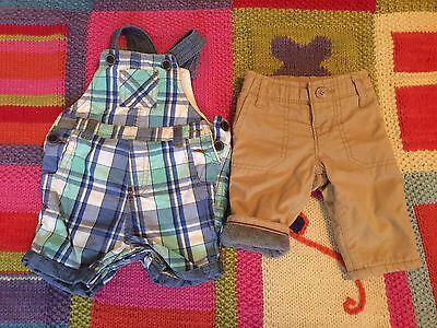 USED BABY BOY 0-3 MONTHS CLOTHES LOT Of 25 TOPS PANTS Sets