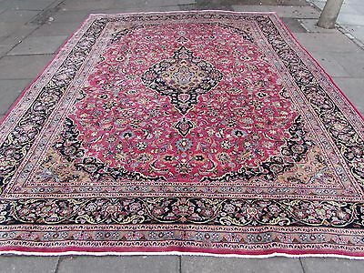 Shabby chic Old Traditional HandMade Persian Oriental Pink Wool Carpet 385x300cm
