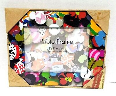 Disney Parks Mickey Mouse Donald Characters Icons 5x7 or 4x6 Picture Photo Frame